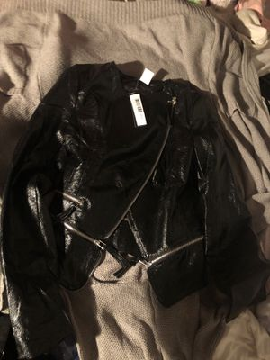 Faux Leather Motorcycle Jacket for Sale in Detroit, MI
