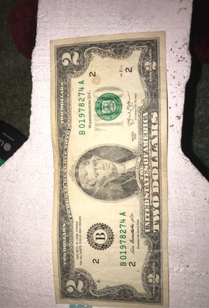 2 dollar bill for Sale in Hemet, CA