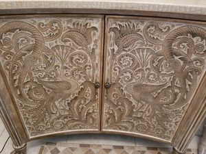 Detailed wood console unit for Sale in Boca Raton, FL