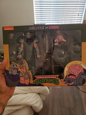 Neca Teenage Mutant Ninja Turtles Shredder and Krang 2pack action figures for Sale in West Covina, CA