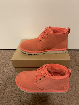 100% Authentic Brand New in Box UGG Neumel Boots / Color: Pop Coral / Women size 6 and 7 for Sale in Lafayette, CA