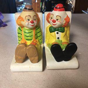 Vintage Ceramic Clown Bookends for Sale in Milton, FL