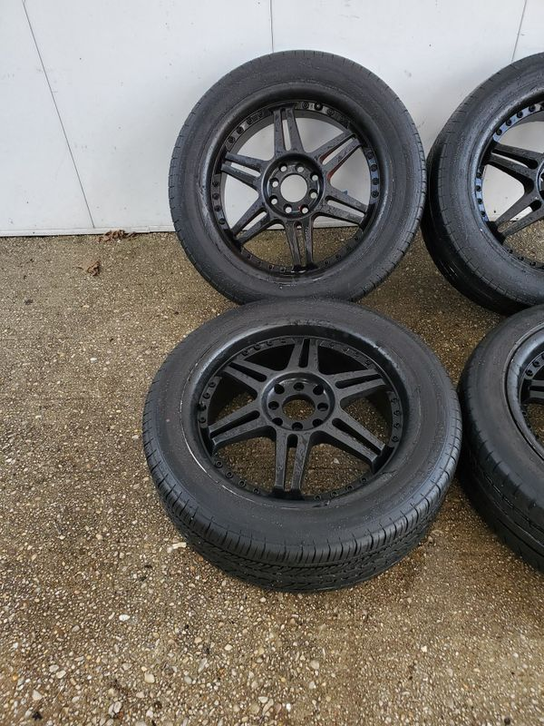 4 17 in 4x100 4x114.3 wheels rims and NEW tires