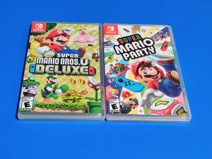 Super Mario Bros Deluxe and Super Mario Party Nintendo Switch for Sale in Las Vegas, NV