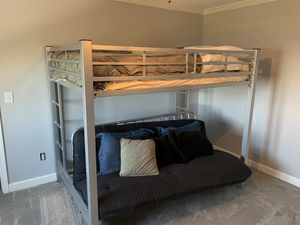 Steel bunk bed / futon combo for Sale in Marietta, GA