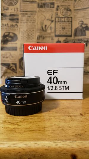 Canon 40mm STM with B+W filter for Sale in San Francisco, CA