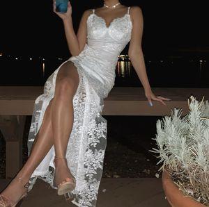 White lace slit dress - Fashion Nova for Sale in East Wenatchee, WA
