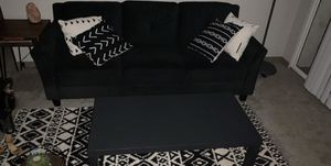Black couch and coffee table for Sale in Altamonte Springs, FL