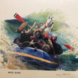 Vintage 1997 Sandy Jamieson Wild Ride Autograft Unopened Print for Sale in Naugatuck, CT