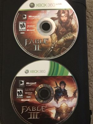 Fable 2 and Fable 3 xbox360 for Sale in Downey, CA