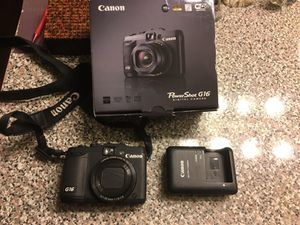 Canon PowerShot G16 12.1 MP CMOS Digital Camera with 5x Optical Zoom and 1080p Full-HD Video Wi-Fi Enable for Sale in Los Angeles, CA