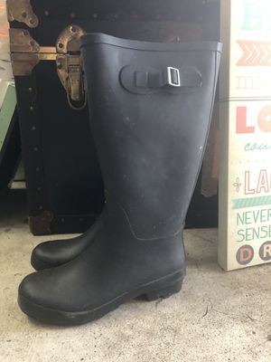 Women's Black rain boots size 7 for Sale in Oviedo, FL