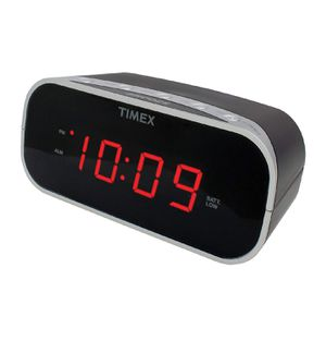 Timex T121B Alarm Clock with 0.7-Inch Red Display (Black) for Sale in Corona, CA