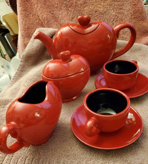 Heart Shaped 7 piece Tea Set for Sale in Bellevue, WA