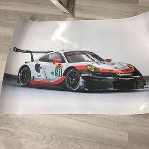 Brand New Big Laminate Poster Porsche for Sale in Miramar, FL
