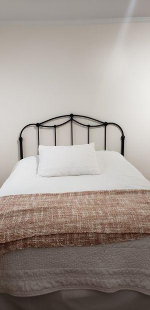 Metal Headboard and Metal Full Bed Frame for Sale in Skokie, IL