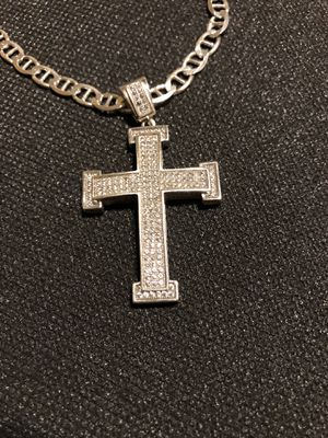 Solid silver chain with pendent for Sale in Saint ANTHNY VLG, MN