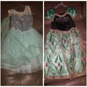 Beautiful elsa and anna dresses like new for Sale in Lebanon, TN