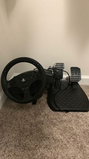 Steering wheel for ps4 and ps3 and pc for Sale in Nashville, TN