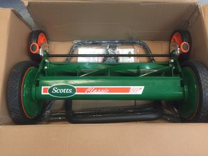 Scott's 20 in. Manual Walk Behind Push Reel Lawn Mower with Grass Catcher bag for Sale in Mesa, AZ