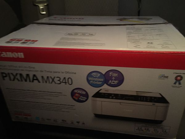 Canon Pixma MX340 wireless printer, fax +adf, scanner, and photo fix 2. Brand new in-box. And, HP Photosmart Plus with ePrint Wireless