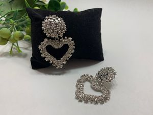 New Fashion Simple Style Embossed Metal Heart Stud Earrings For Women, Silver Color for Sale in Irvine, CA