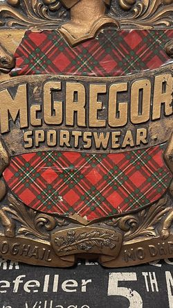 Vintage MC Gregor Sportsware Plaque for Sale in Dublin,  OH