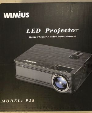 """WiMiUS P18 LED Projector, Home Theater, Video Entertainment, Upgraded 4200 Lumens LED Projector Support 1080P 200"""" Display 50,000H LED Compatible wit for Sale in Los Angeles, CA"""