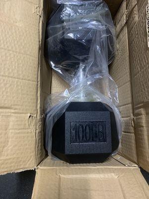 100 lb dumbbells brand new for Sale in Elk Grove, CA