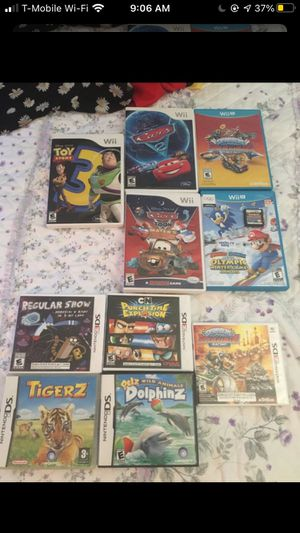 Nintendo Games Wii, Wii U, 3Ds for Sale in Alexandria, VA