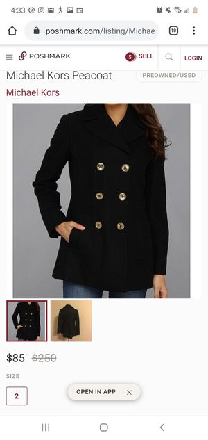 Michael kors peacoat(worn once) MEDIUM for Sale in Queens, NY