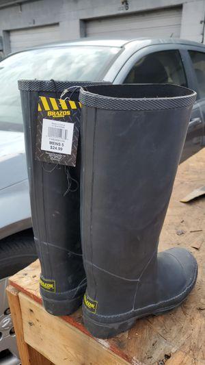 Brazos men's size 5 rubber boots for Sale in Dallas, TX