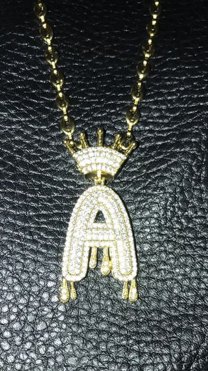 Letter A chain and bracelet set for Sale in Kissimmee, FL