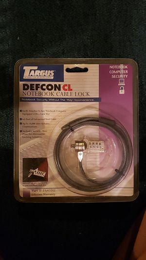 Targus Defcon CL Note book cable lock for Sale in Glenolden, PA