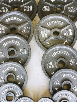 full set of olympic barbell plates 2.5 to 45 for Sale in Riverside,  CA