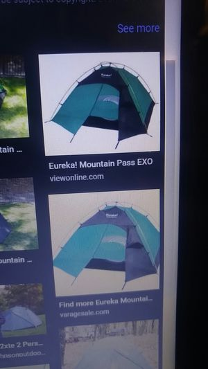 Eureka exo camping tent 2-3 persons for Sale in Seattle, WA