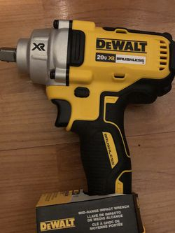 New New Impact Wrench 1/2 Inch Dewalt Xr20 Volts for Sale in Washington,  DC