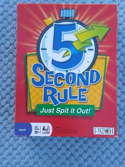 5 Second Rule Game for Sale in Ceres,  CA