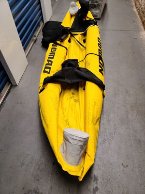 Nomad inflatable 2 seater kayak with 2 paddles for Sale in North Providence, RI