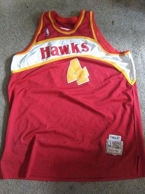 Trowback alanta hawks spud web jersey hard wood classic for Sale in Rock Island, IL