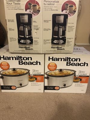 Slow cooker and coffee maker 2 for $30 brand new for Sale in West Covina, CA