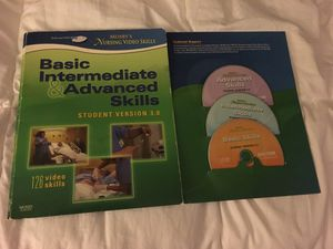 Basic intermediate and advanced skills student version 3.0 Mosbys nursing video skills for Sale in Tempe, AZ