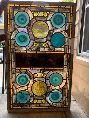 Antique Victorian leaded stain glass window for Sale in Philadelphia, PA