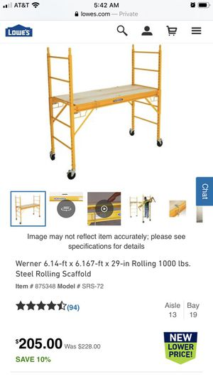 Werner rolling scaffold for Sale in San Diego, CA