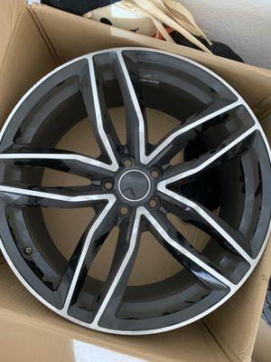 """SET(4) 20"""" 20X9 BLACK WHEELS RIMS 5X112 +35MM AUDI A4 S4 A6 Q5 S5 A5 S6 ATLAS for Sale in Wylie, TX"""