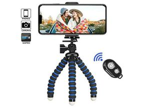 Phone Tripod,iPhone Tripod Portable Flexible Camera Stand Mini Holder with Wireless Remote Shutter and Universal Clip for Sale in Rancho Cucamonga, CA