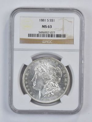 1881-S Morgan Silver Dollar MS-63 for Sale in Rolling Hills, CA