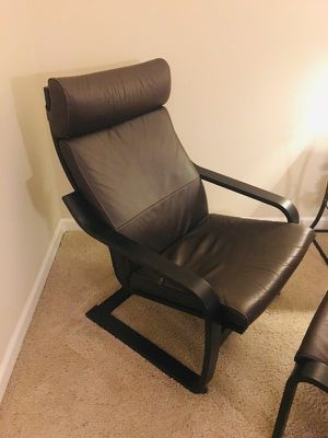 IKEA dark brown leather chair for Sale in New York, NY