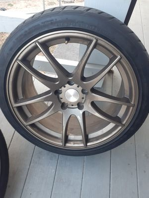 18x8.5 5x114.3 Avid1s with tires for Sale in Yonkers, NY