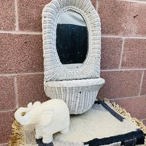 "Vintage 80's Wicker Mirror 24"" Height 12"" Width for Sale in Downey, CA"